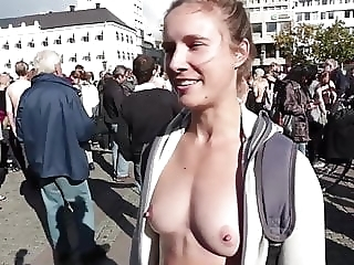 Free The Nipple topless march in Sweden