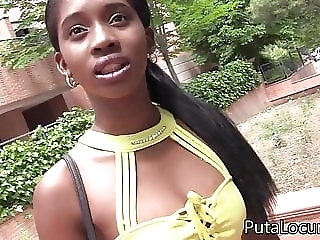 Beautiful ebony fuck older man