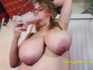 Hairy pussy huge tits woman and a massive cock